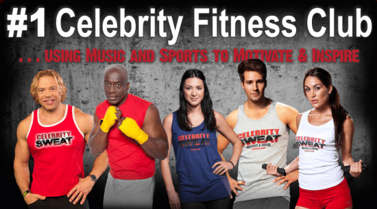 #1 Celebrity Fitness Club - Promo for Celebrity Sweat - Workouts and Fitness with Celebrities