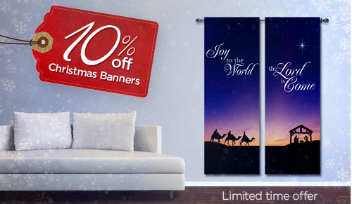 Christmas Banners from ChurchBanners.com