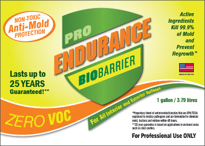 Endurance Bio Barrier Mold Prevention and Mold Removal Product