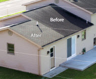 Before and After Roof Photo