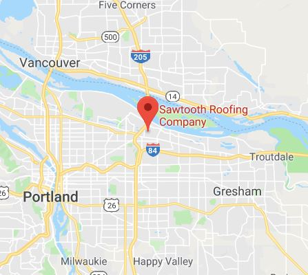 Sawtooth Roofing on the Portland Map